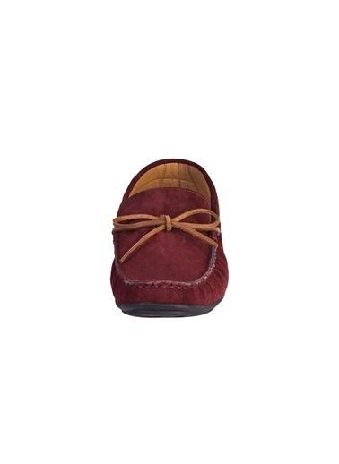 Kiğılı Süet Bağcıkli Loafer Ayakkabı Bordo
